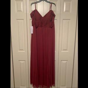 Azazie Aja Bridesmaid Dress (Mulberry)